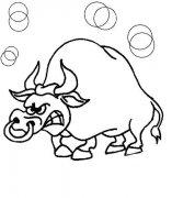 生气的公牛简笔画图片