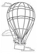 少儿关于乘坐热气球的简笔画图片