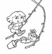 爱探险的朵拉简笔画图片