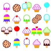 各种涂色冰淇淋简笔画图片大全