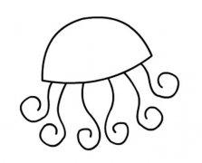 简单的手绘水母简笔画图片
