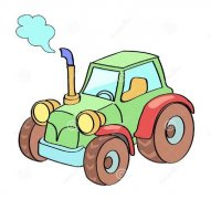 儿童彩色拖拉机简笔画图片