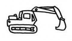 儿童挖土机侧面简笔画图片