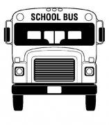 幼儿园校车车头正面简笔画图片