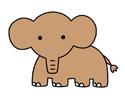 大象简笔画图片带颜色步骤教程