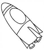 幼儿园小朋友关于大火箭的简笔画图片