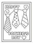 一年级父亲节简笔画图片:爸爸的领带
