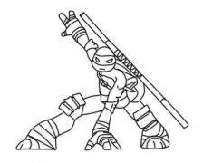忍者神龟多纳泰罗简笔画图片