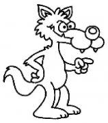 少儿卡通大灰狼简笔画图片