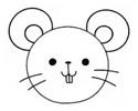 画一个可爱的动物气球简笔画 -- 小老鼠