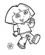 幼儿爱冒险的朵拉简笔画图片