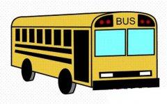 小学生彩色公共汽车简笔画图片