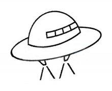 幼儿园关于小飞碟简笔画图片