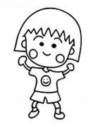 幼儿园卡通樱桃小丸子简笔画图片