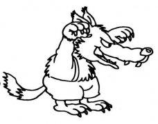 凶恶的大灰狼简笔画图片