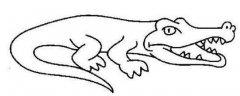 少儿鳄鱼简笔画图片