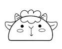 1个半圆就能画出可爱的简笔画 -- 小绵羊