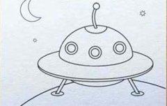 小学生关于太空飞碟的简笔画图片