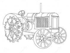 小学生农机拖拉机简笔画图片