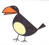 彩色乌鸦简笔画图片