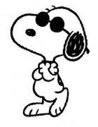 戴墨镜的史努比简笔画图片