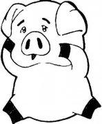 卡通小猪简笔画