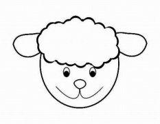 可爱羊的头像简笔画