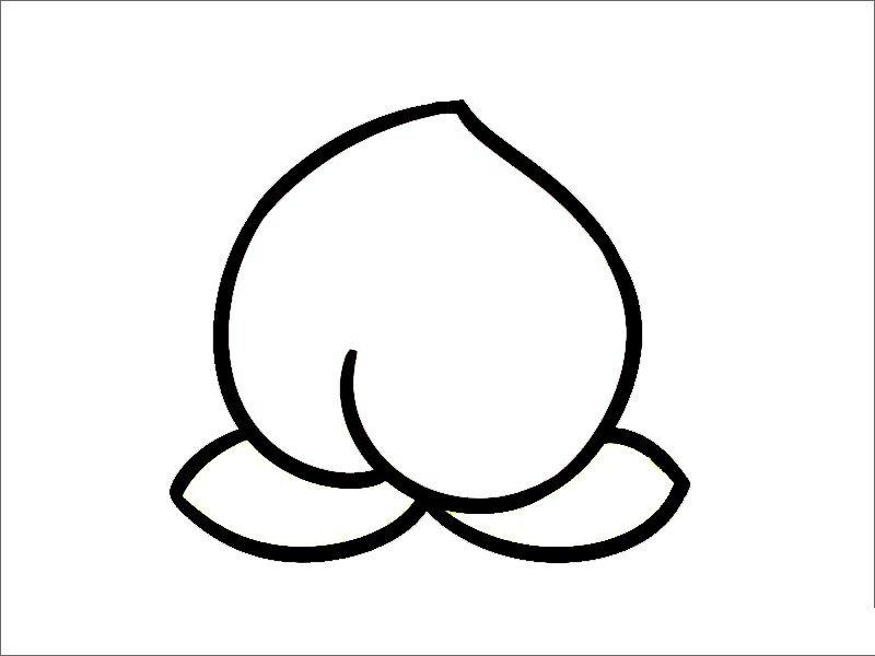 桃子简笔画