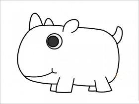 胖犀牛简笔画