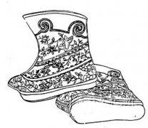蒙古靴子简笔画图片