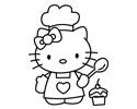 HelloKitty凯蒂猫大厨卡通简笔画包括步骤画法
