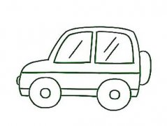 幼儿简笔画:吉普车