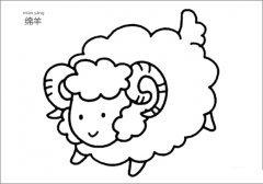 如何画绵羊简笔画