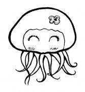 幼儿超萌可爱水母简笔画图片