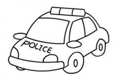 关于中国警车的简笔画图片