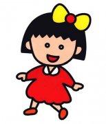 幼儿带颜色的樱桃小丸子简笔画图片