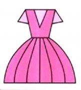 女生彩色裙子简笔画图片