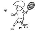 打网球的小男孩简笔画图片