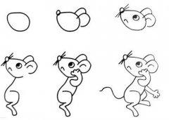 老鼠简笔画教程