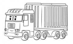 变形警车珀利大货车特里简笔画图片