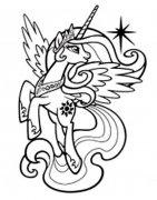 小马宝莉宇宙公主塞拉斯提亚简笔画图片