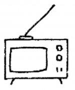 幼儿园简单的黑白电视机简笔画图片