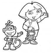 朵拉和小猴子布茨简笔画图片大全