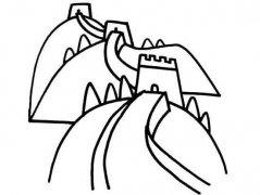 关于长城的简笔画
