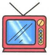 少儿彩色电视机简笔画图片大全