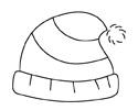 毛绒帽子简笔画的画法步骤