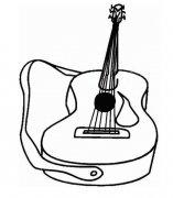 幼儿吉他简笔画图片