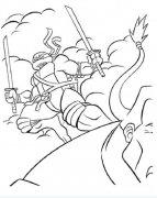 少儿忍者神龟动漫简笔画图片