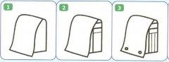 幼儿书包简笔画画法步骤:怎么画书包