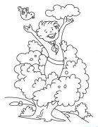 植树节主题简笔画大全:拥抱绿色
